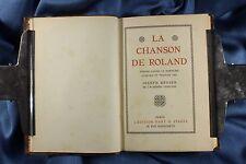 Libro El Cantar de Roldán. Francés. La Chanson de Roland. 1930