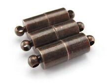 50 Magnetic Clasp Converters - Large Tube Style -Antique Copper Color - Set Pack