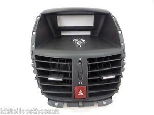 Peugeot 207 WA ab 06 Verkleidung Luftdüsen Lüftung Luftdusche schwarz 9650068177
