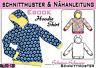 Kinder Hoodie Shirt pdf.Schnittmuster und Nähanleitung Gr.:92-128