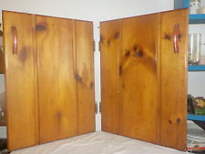 Antique Homemade Cedar Wood Kitchen Matching Cupboard Doors