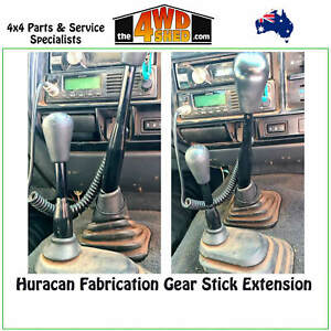 """Gear Stick Extension 2"""" inch 50mm Black Lever fit 80 Series Toyota Landcruiser"""