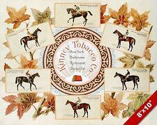 VINTAGE 1800'S TOBACCO AD HORSE JOCKEY RACE RACING ART PAINTING CANVAS PRINT