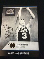 TROY MURPHY SIGNIED 5x7 ACC LEGENDS CARD NOTRE DAME BASKETBALL AUTO COA PROOF