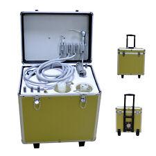 550w Mini Portable Dental Unit Mobile Turbine Unit With Oil Free Air Compressor