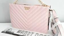 VICTORIA'S SECRET Blush Pink V-Quilted Crossbody / Clutch Bag BNWT