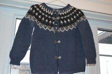 Icelandic Cardigan,Size XXS,Icelandic hand knitted,Blue ,Women sweater,,Nice
