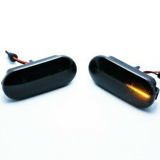 2x LED DYNAMIC SIDE DIRECTION INDICATORS AMBER SMOKE LENS SEAT VW E4 MOT TÜV ITV