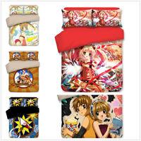 3D Anime Print Sakura Duvet Cover Comforter Cover Kids Bedding Set Pillow Case