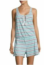 NWT $56 Tommy Hilfiger Venice Beach Striped Sleep Romper Women's Size Small