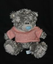 Peluche Doudou Ours Gris CARTE BLANCHE Me To You Pull Rose 23 Cm Assis NEUF
