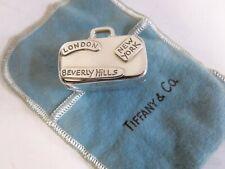 Tiffany & Co RARE Sterling Silver World Traveler Suitcase Pillbox.