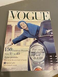 VOGUE Magazine 1958 November  FREE gift wrap FAST Dispatch