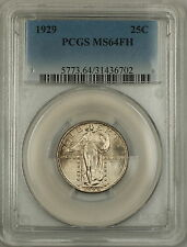 1929 FH Full Head Standing Liberty Silver Quarter 25c Coin PCGS MS-64