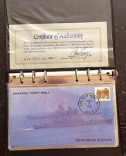 Operation Desert Shield (Gulf War) 7 Cover Military in Binder with Certificate