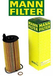 Mann HU6014/1Z Oil Filter BMW OE #: 11428575211 See Fitment Chart Below