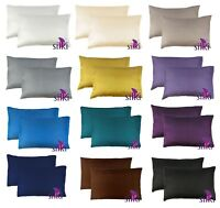1 PAIR: 100% MULBERRY 25 momme Silk (2 faces) Pillowcase cover STANDARD 51x66cm