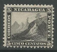 timbres-NICARAGUA. 1873 5c Noir sur Fin Hard Papier Perf 12. SG: 10.