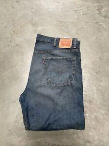 Mens Levi Strauss 550 Regular Fit Red Tab Jean - W44 L30 - Murky Dark Blue