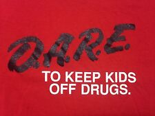 Vintage D.A.R.E To Keep Kids Off Drugs Red X-Large T-Shirt Safety Education
