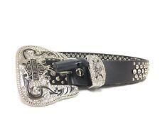 NEW Harley Davidson Womans Size Medium Studded Belt Genuine Cowhide Leather #44