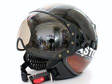 Pilot style demi-jet DOT Motorcycle Helmet Black (ASTONE DD70)