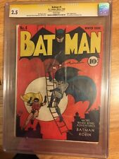 Batman 4 Cgc Oldest Signature Series Ss Dc Winter 1940 4th Joker App Gotham City