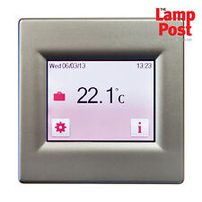 BN Thermic T16CS Touch Screen Underfloor Heating Programmable Thermostat Silver
