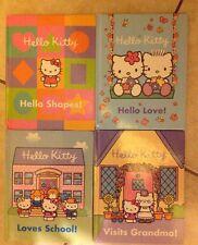 Hello Kitty Set Of 4 Books Loves School, Visits Grandma, Hello Love & Shapes