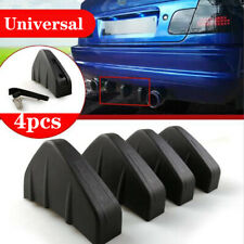 4Pcs Rear Bumper Fins Spoiler Wing 4 Lip Splitter Black Matt Look Accessories