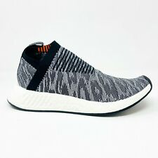 Adidas NMD C2 Primeknit Black Gray Red Camo BZ0515 Mens Sneakers