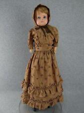 "25"" antique Wax Over Papier Mache German shoulder head doll 1860s ""Tlc"""