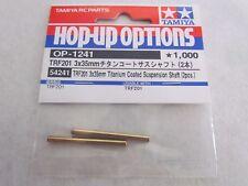 Tamiya 54241, eje de suspensión de titanio recubiertos de TRF201 3x35mm (2Pcs). nuevo en paquete