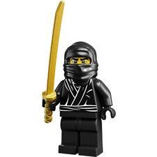 *NEW* Lego Black Ninja Series 1 Man Rare Minifigure Gold Sword Baseplate x 1