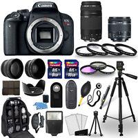 Canon EOS Rebel T7i Camera + 18-55mm stm + 75-300mm + 30 Piece Accessory Bundle