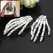 2pcs Personality Devil Skeleton Hand Bone Claw Hairpin Zombie Horror Hair Clip