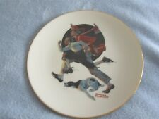 """Vintage Norman Rockwell Collector Plate """"The Alarm"""" by Danbury Sat Evening Post"""