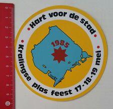 Aufkleber/Sticker: Hart voor de stad - Kralingse plas feest 1985 (180217133)