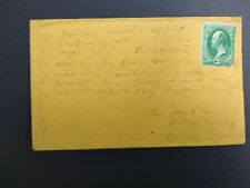 Pennsylvania: Whiteley 1875 Cover, Long Note on Front, Dpo Greene Co