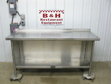"""6' x 26"""" Heavy Duty Stainless Steel Kitchen Cabinet Work Prep Table 72"""" x 2' 2"""""""