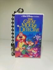 Great Mouse  Detective cartoon Disney  VHS white clamshell  Blu Ray  Keychain