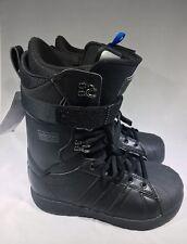 New Adidas Superstar ADV Snowboard Boots Men's SZ 8.5 Yeezy Triple Black BW0991