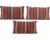 """Kurdish kilim pillow handmade kurdish vintage 3 pillow  kilim area 3 rug 24""""X16"""""""