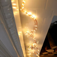 1.5m 150 LED Plug In Firefly LED Copper Wire Waterfall Light | Home Wall Decor