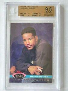 1992 Manny Ramirez Stadium Club #146 BGS GEM MINT (9.5,10,9.5,9.5 grades) Rookie