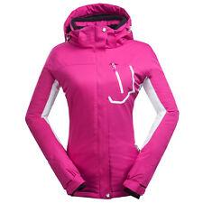 Womens Ski Snowboard Padded Jacket Waterproof Hooded Outdoor Hiking Outwear Coat