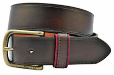 Tommy Hilfiger Men's 35mm Ribbon-Loop Belt. Brown. Size 44