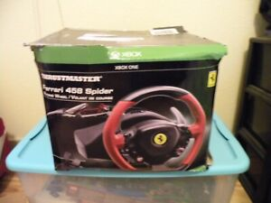 Thrustmaster Ferrari 458 Spider Xbox One Racing Wheel W/ Pedals