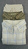 Lot of 3 CUTTER & BUCK  XL Cotton Plaid Long Sleeve Button Front Casual Shirts