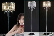 Modern Simple Style E14 Height 152Cm Living Room Bedroom K9 Crystal Floor Lamp